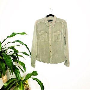 Asos BlendShe┃Button down Blouse Long Sleeve Vest